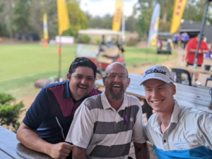 smiling players at 2020 golf day event